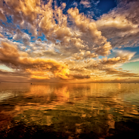 Symphony by Frank Photography - Landscapes Sunsets & Sunrises ( honeymoon, clouds, colors, beautiful, pacific ocean, reflections, view )