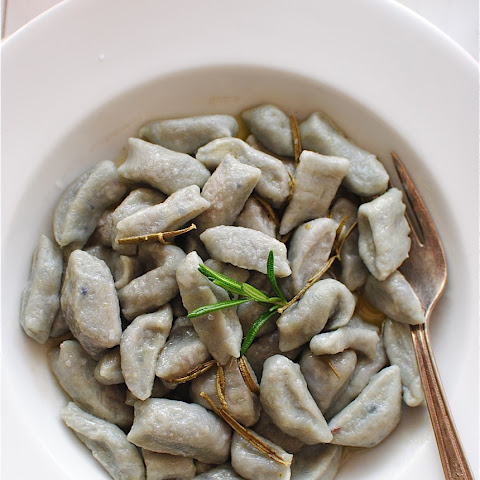 Purple Gnocchi with Rosemary Butter