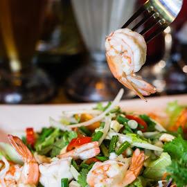 Prawn Salad by Varok Saurfang - Food & Drink Plated Food ( salad, cuisine, food, prawn, thai )