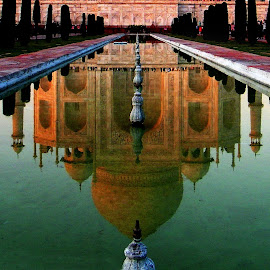 Reflection of the Taj by Mrinmoy Ghosh - Buildings & Architecture Architectural Detail (  )