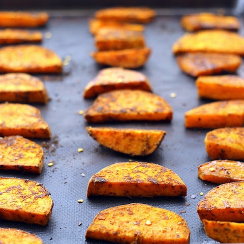 Maple Chipotle Sweet Potato Wedges