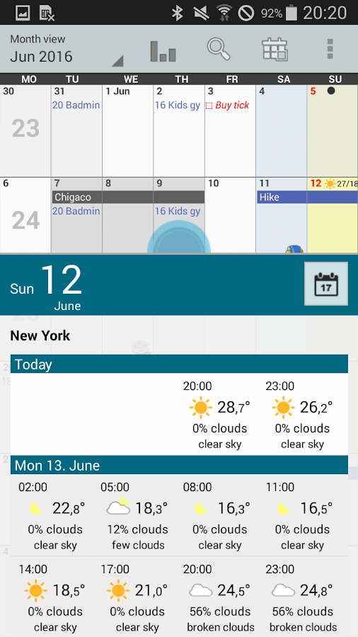 Personal Calendar Screenshot 1