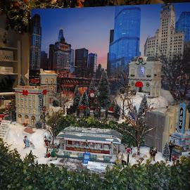 Quaint Little Town by David Jarrard - Public Holidays Christmas ( christmas cards, skyline, christmas, artistic scenes, christmas scenes, Christmas, card, Santa, Santa Claus, holiday, holidays, season, Advent )