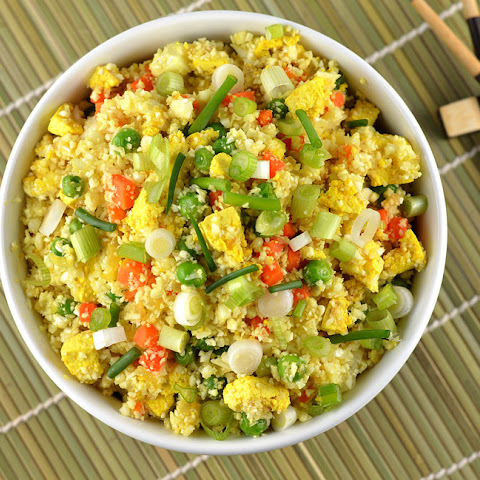 Cauliflower Fried Rice with Tofu Scramble {Vegan}