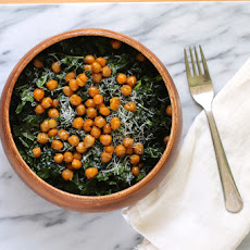 Kale Caesar With Roasted Chickpeas