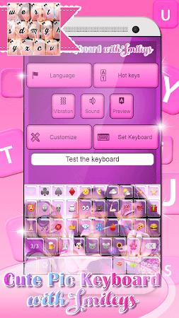 Cute Pic Keyboard with Smileys 3.0 screenshot 2090739