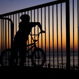 Kid Biker by Simon Gilgallon - Novices Only Sports ( bike, silhouette, pedals, wheels, bmx )