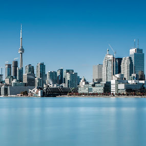 Calm Sunday by Ralph Sobanski - City,  Street & Park  Skylines ( skyline, canada, blue, toronto, buildings, day, city )
