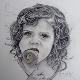 Mina by Heather Kiefer - Drawing All Drawing ( graphite, toddler )