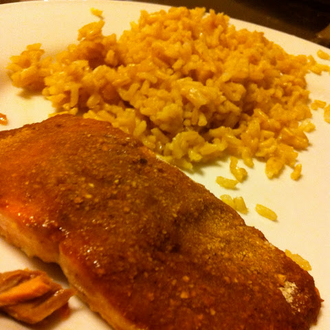Baked Teriyaki Salmon with Matzoh Crust