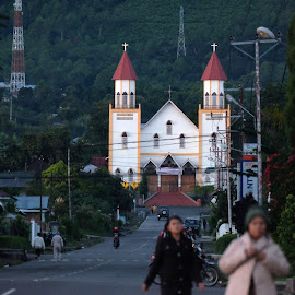Ruteng Church by Deni Sugandi - Buildings & Architecture Places of Worship ( flores, church, indonesia, churches, landscape indonesia )