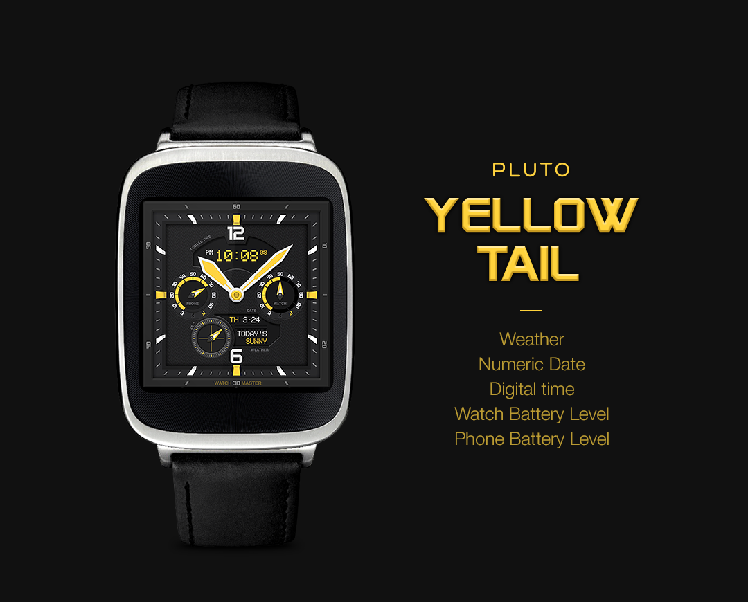 YellowTail watchface by Pluto Screenshot 2