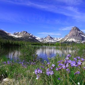 Glacier Park Two Medicine by Gerard Pascazio - Landscapes Mountains & Hills