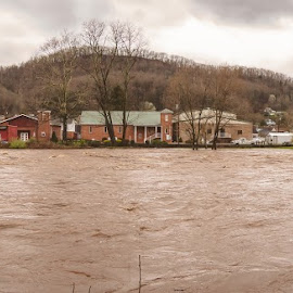 by Chris Reynolds - City,  Street & Park  Historic Districts ( nikon, panorama, storm, parsons west virginia )