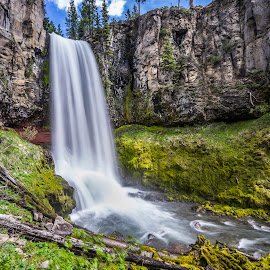 Tumalo Falls - Central Oregon by Gary Piazza - Landscapes Waterscapes ( water, oregon, waterfalls, tumalo falls, waterscape, outdoor, creek, bend, landscape, river )