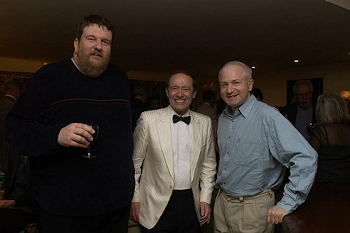 With Oliver Knussen and George Benjamin at the party after my 60th birthday concert, 2004