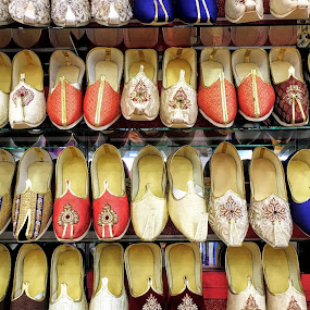 shoes sale by Wan Loy Yeong - Artistic Objects Clothing & Accessories ( shoes, shop, ladies, colorful, colors, indian ladies, indian, malaysia, ipoh, arrangement, colourful, multi-colored, ladies shoes, lady, shopping, perak, shoe, array,  )