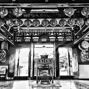 The Gate of The Prayers by Suryo Pandoyo - Black & White Buildings & Architecture