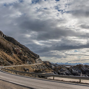 Road trip by Benny Høynes - Landscapes Caves & Formations ( clouds, mountains, road, springtime, norway )