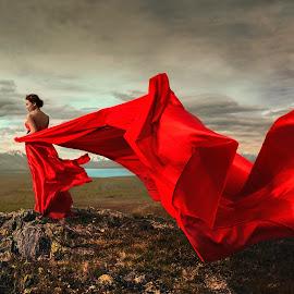 Red by Zhuo Ya - Wedding Bride ( zhuoya, red, prewedding, wedding, lake tekapo, zhuoya photography, new zealand )