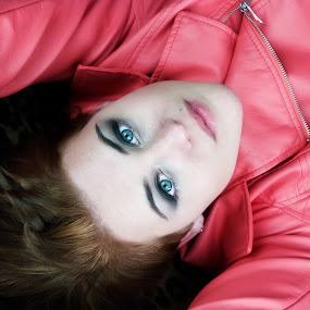 Hannah by Kellie Prowse - People Portraits of Women ( pink jacket, woman, blue eyes, portrait, beautiful girl )