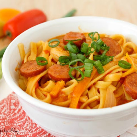 One Pot Cajun Shrimp and Sausage Pasta