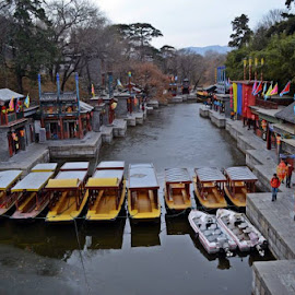 A city river in Beijing by Ismee Nuura - City,  Street & Park  Historic Districts