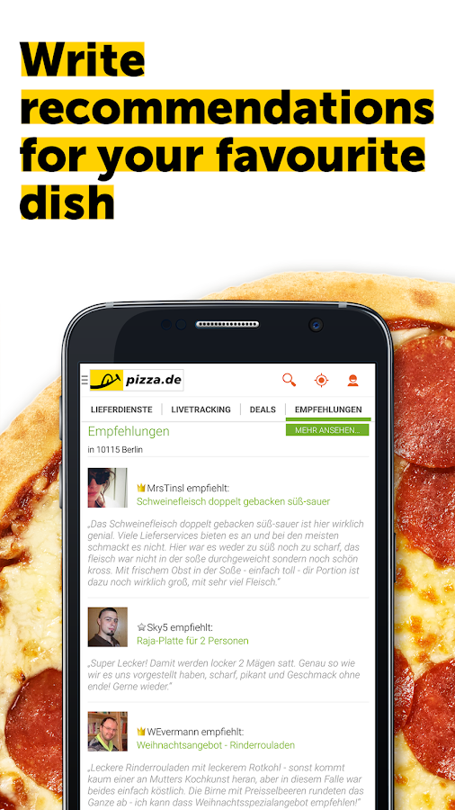 pizza.de - order food online Screenshot 6