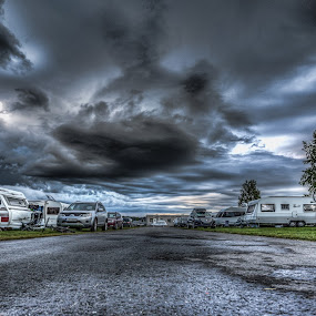 Boden camping by Benny Høynes - City,  Street & Park  Street Scenes ( sweden, hdr, camping, summer, camplife )