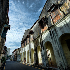 Penang's old shop-houses by Siew Jun Han - City,  Street & Park  Neighborhoods ( shop, building, old, street, architecture )