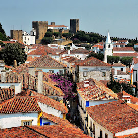Óbidos, Portugal by Francis Xavier Camilleri - City,  Street & Park  Historic Districts