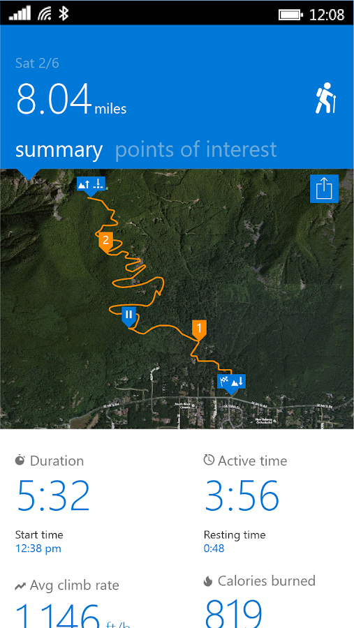 Microsoft Band Screenshot 1