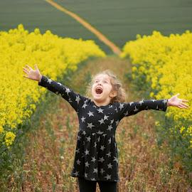 Summers here by Kellie Brownlie - Babies & Children Children Candids ( yellow field photography pretty summer )