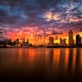 Epic Sunset by Gordon Koh - City,  Street & Park  Skylines