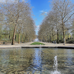 Royal Park by Ingrid Dendievel - City,  Street & Park  City Parks ( nature, park, royal park, fountain, belgium, brussels )