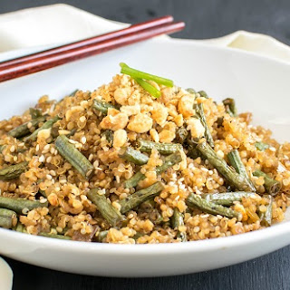 Asian Style Long Beans and Quinoa