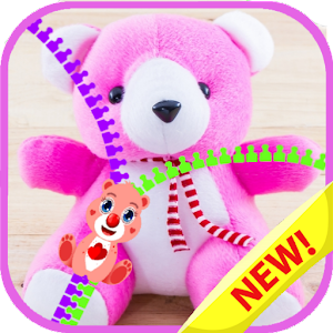 Download Zipper lock screen teddy bear for PC - Free Personalization App for PC