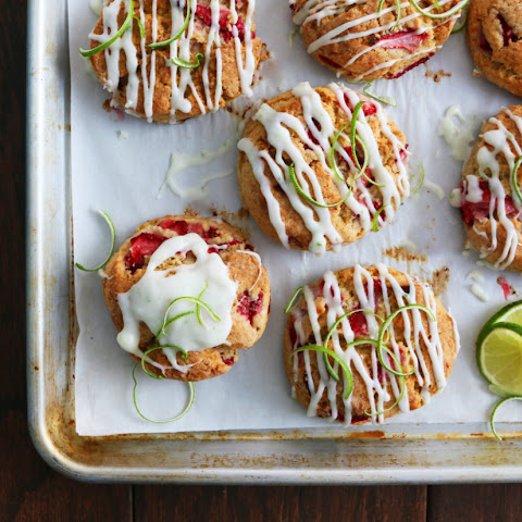 Strawberry-Lime Cream Cheese Scones