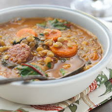 Lentil Soup with Swiss Chard and Sausage