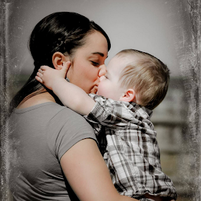 sweet kiss by Debra Lynde - Uncategorized All Uncategorized ( love, child, kiss, mother,  )