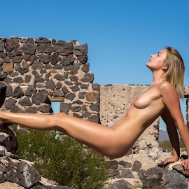 Floating by Kens Yeaglin - Nudes & Boudoir Artistic Nude ( old mine, nude, outdoors, nadiaruslanova, sasco, old hotel )