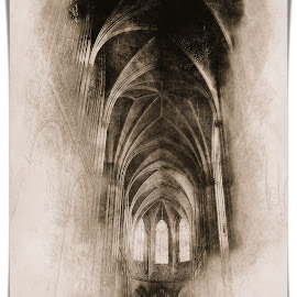 Linz by Alessandro Calzolaro - Digital Art Places ( effect, church, editing, linz, cathedral, manipulation, retouch, drawing )
