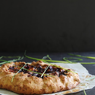 Mushroom Beet And Blue Cheese Galette