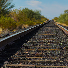 on the way to nowhere by Dustin Wilcox - Novices Only Landscapes ( railroad, railroadtracks )