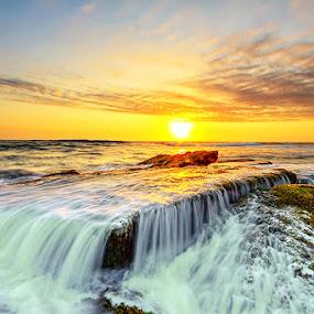 Sunset Surge by Satrya Prabawa - Landscapes Waterscapes ( bali, sunset, indonesia, sunrise, landscapes )