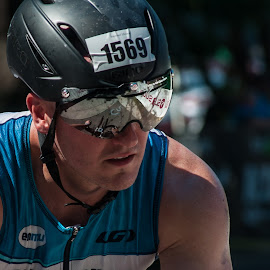 Mirror Glance by Brianne Toma - Sports & Fitness Cycling ( fitness, cycling, image, northwest, iron, bicycle, mirror, idaho, coeur d'alene, biking, triathlon, action, tough, ironman, nikon, athlete, competition )