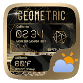 Geometric Weather Widget Theme