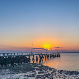 Happy Friday  by Taz Graham - Novices Only Landscapes ( jetty, sunrise )