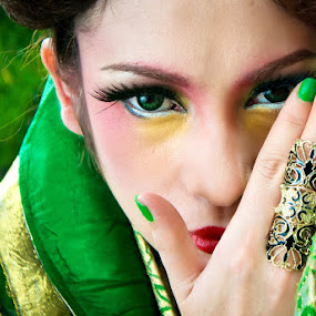 Through My Green Eyes by Aji Patria - People Portraits of Women