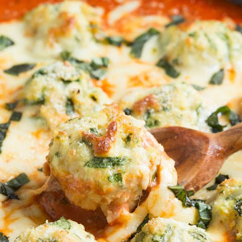 Chicken and Spinach Parmesan Meatballs in Creamy Tomato Sauce